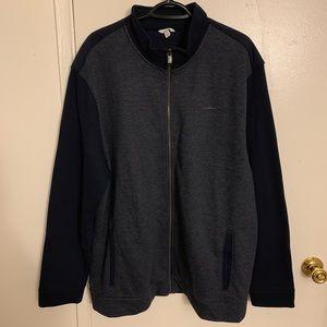 Calvin Klein Zip Hoodie Blue Contrast Size XXL